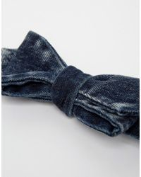 DIESEL - Denim Bow Tie - Lyst