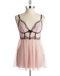 DKNY Pink Lace Chemise - Lyst