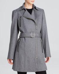 Calvin Klein Coat - Asymmetrical Wool - Lyst