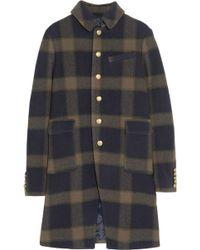 Joseph Cardiff Checked Wool Coat - Lyst