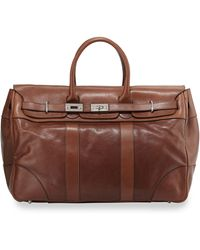 Brunello Cucinelli Calf Leather Country Bag - Lyst