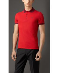 Burberry Contrast Tipping Detail Polo Shirt - Lyst