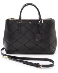 Tory Burch Robinson Stitched Double Zip Tote  Kir Royale - Lyst