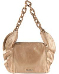 Prada Ruffle Detail Shoulder Bag - Lyst