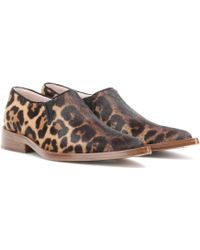 Victoria Beckham   Printed Calf Hair Loafers   Lyst