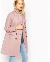 ASOS - Coat In Longline Twill - Lyst