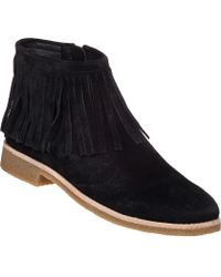 Kate Spade | Betsie Fringed Suede Ankle Boots | Lyst
