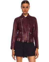 3.1 Phillip Lim Sculpted Motorcycle Leather Jacket - Lyst