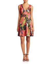 Trina Turk Floral Jacquard Dress multicolor - Lyst
