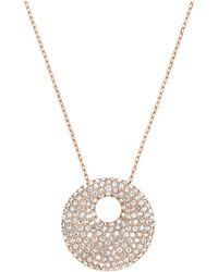 Swarovski Stone Rose Goldtone  Crystal Pendant Necklace - Lyst