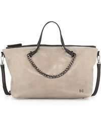 Halston Heritage Chainhandle Eastwest Satchel Bag - Lyst