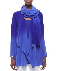 Eileen Fisher Ombre Silk Crepe Scarf - Lyst