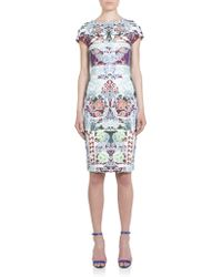 Mary Katrantzou Calligraphy-Print Scuba Dress - Lyst
