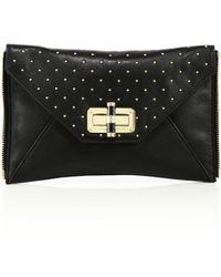 Diane von Furstenberg | 440 Gallery Agent Mila Studded Leather Zip-on Clutch | Lyst