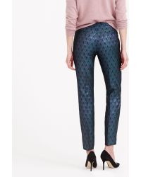 J.Crew Collection Cigarette Pant in Metallic Jacquard - Lyst