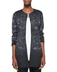 Eileen Fisher Felted Sprinkle-print Wool Long Jacket - Lyst