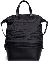 Alexander Wang - 'explorer' Nylon And Leather Zip Tote - Lyst