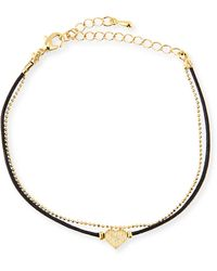 Jules Smith Heart Chain Rope Bracelet - Lyst