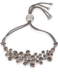 Caroline Creba - Swarovski Crystal Bracelet Rhodium - Lyst