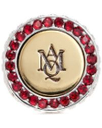 Alexander McQueen | Logo Monogram Crystal Signet Ring | Lyst