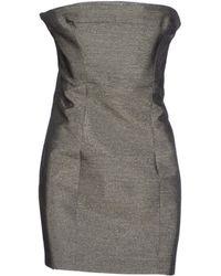 DSquared2 Gray Short Dress - Lyst