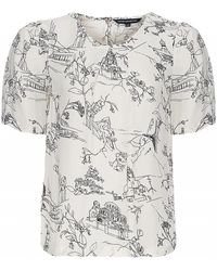 French connection Anastasia Crepe Top - Lyst
