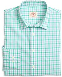 Brooks Brothers Double Check Sport Shirt - Lyst