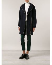 Band Of Outsiders Zipped Collar Coat - Lyst