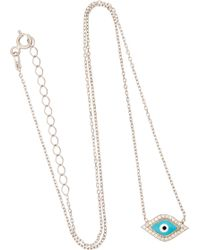 Susan Hanover - Iconic Evil Eye Silver, Crystal And Enamel Necklace - Lyst