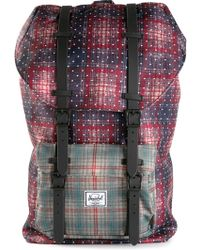 Herschel Supply Co. Blue Plaid Backpack - Lyst