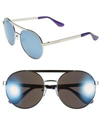 Isaac Mizrahi New York | 56mm Round Sunglasses | Lyst