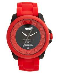 Neff - 'knoxx' Round Watch - Lyst
