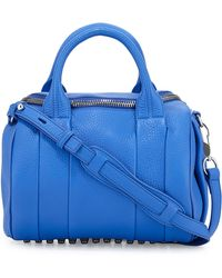 Alexander Wang Rocco Pebbled Leather Satchel Bag - Lyst