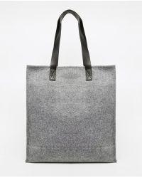 Monki - Structured Shopper Bag - Lyst