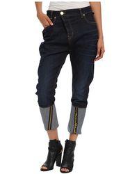 Vivienne Westwood Anglomania Blue Boyfriend Trousers - Lyst