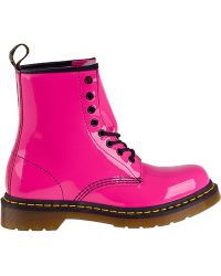 Dr. Martens 1460 Lace-Up Boot Hot Pink Patent - Lyst