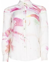 Matthew Williamson Marble Rainbow Silk Shirt - Lyst