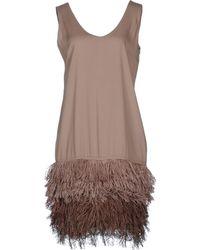 Brunello Cucinelli Short Dress - Lyst