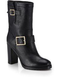 Jimmy Choo Dart Leather Mid-Calf Boots - Lyst