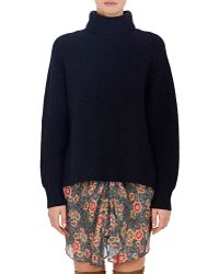 Etoile Isabel Marant Laney Turtleneck Sweater blue - Lyst