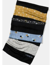 COACH | Floral Patchwork Oblong Scarf | Lyst