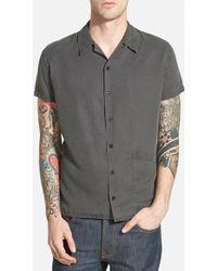 Nudie Jeans 'Byron' Trim Fit Short Sleeve Bowling Shirt - Lyst