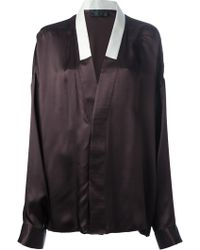 Haider Ackermann Shawl Collar Blouse - Lyst