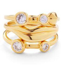 Diane von Furstenberg - Lip Stackable Ring Set - Lyst