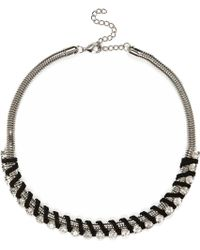 River Island Silver Tone Wrapped Necklace - Lyst