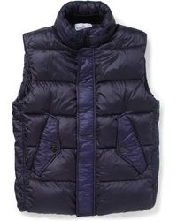 Stone Island Lightweight Quilted Hooded Gilet - Lyst