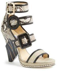 Jimmy Choo Women'S 'Kaya' Triple Buckle Sandal - Lyst