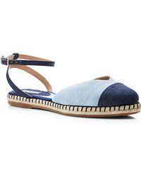 Tabitha Simmons Denim Espadrille Sandals - Lyst