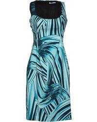 Versace Short Dress green - Lyst