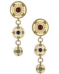 Topshop Circle Stone Drop Earrings - Lyst